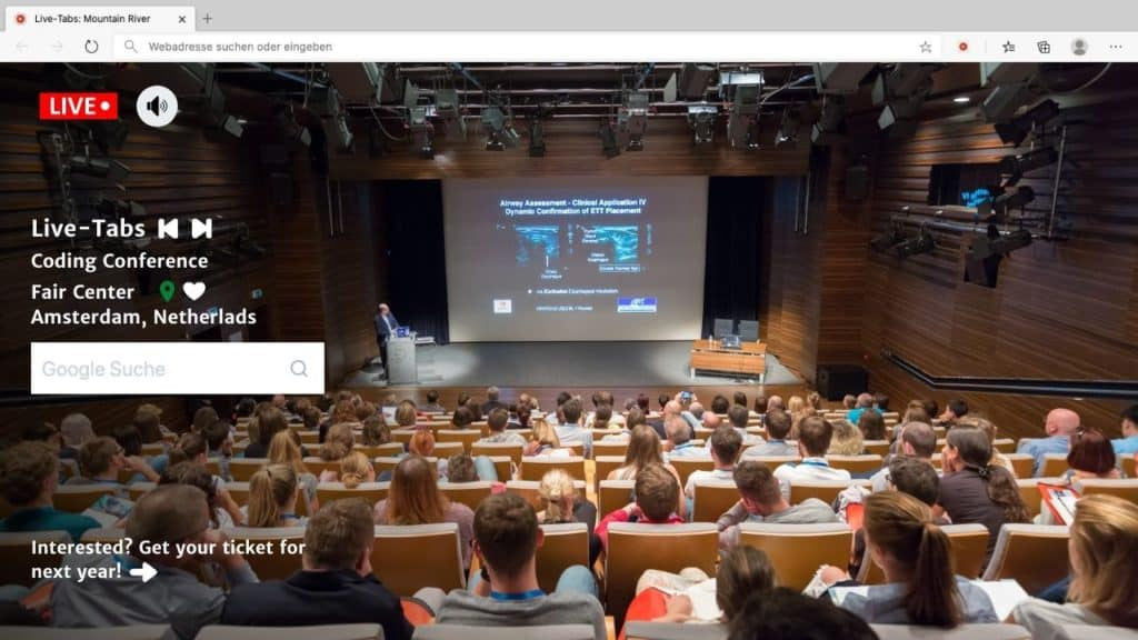 Live Business Conference in Browser Tab with Live Tabs Features